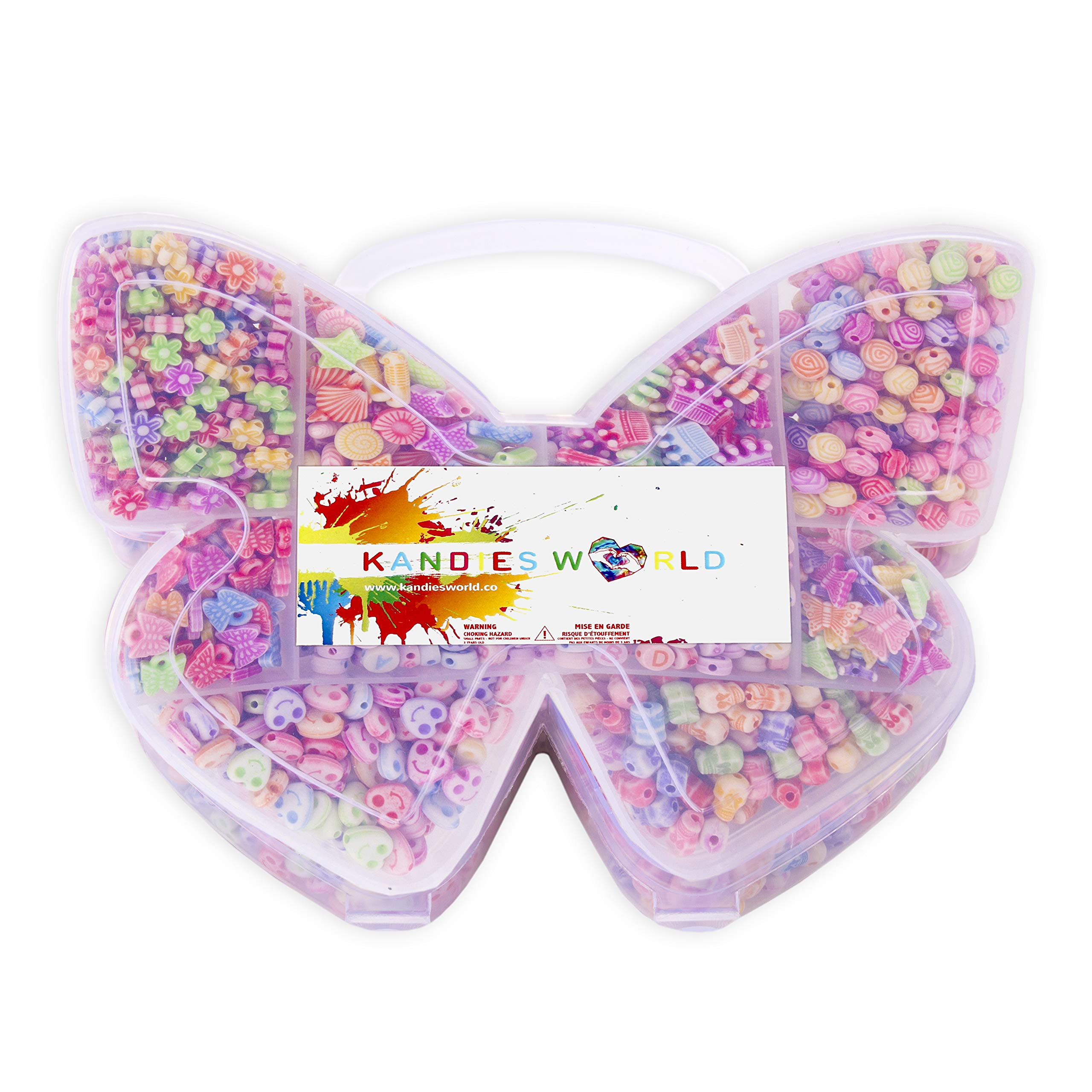 Kandies World | Bead Making Kit | Nine Assorted Shapes & Styles Pastel Color | 1000pcs by Kandies World