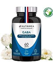 GABA 750 mg/j - Diminution du stress et de l'anxiété - Favorise le sommeil - Calme et sérénité - 60 gélules vegan - Fabrication Française - Nutrimea