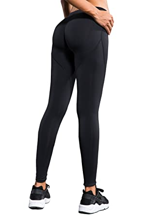 Laisa Sports Women's Compression Thigh Slimming Butt Lift Leggings Hip Push  Up Yoga Pants (US