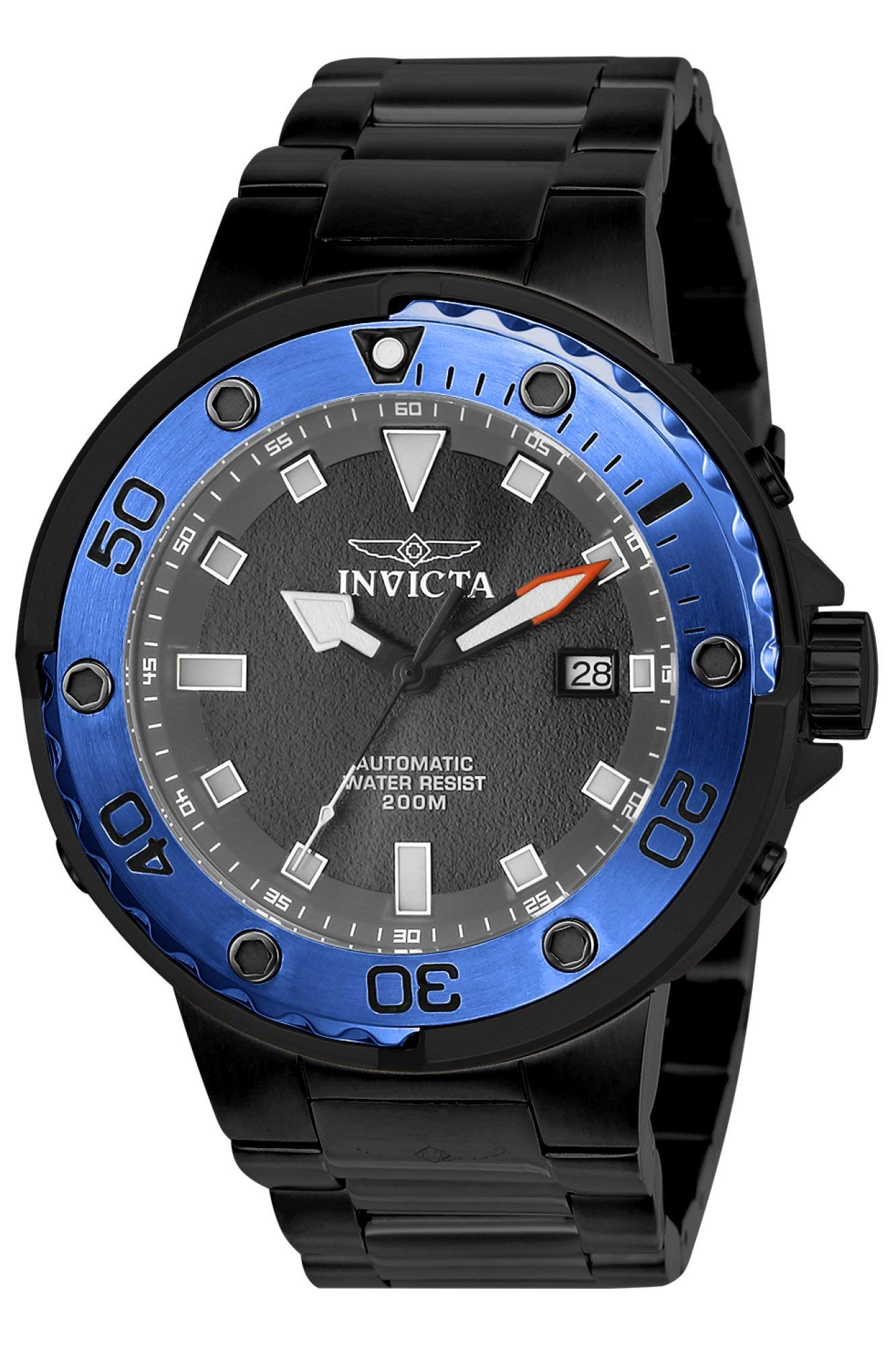 Invicta Men's Pro Diver 49mm Stainless Steel Automatic Watch, Black (Model: 24466)