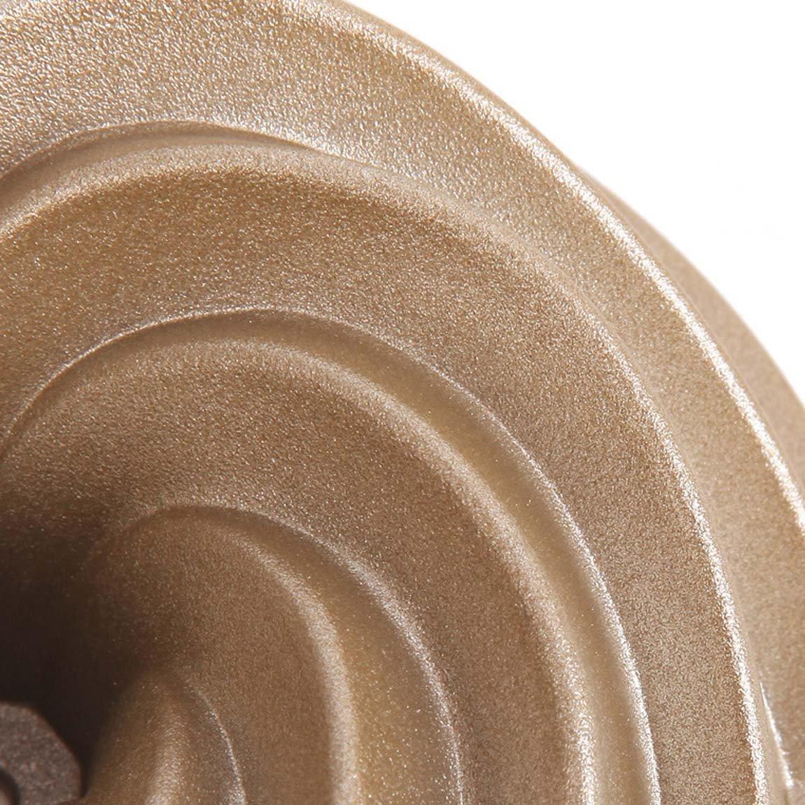 /à l/érable glac/é etc, Excellent pour Faire des G/âteaux bundt /à la Poire et au Chocolat CAN/_Deal Lot DE 4 Mini Moulessilicone G/âteaux//Moule en Acier au Carbone a Forme de Spirale