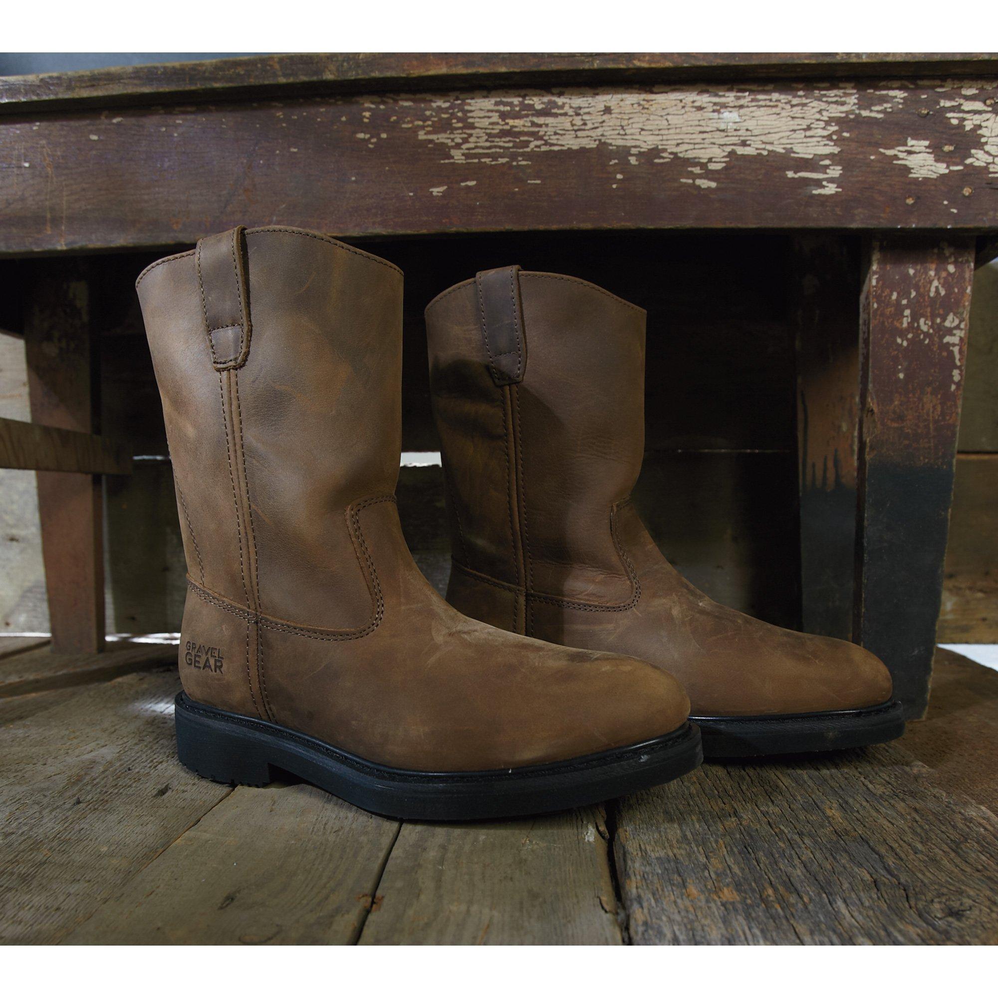 Gravel Gear 10in. Steel Toe Wellington Boot (9)