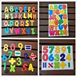 Elloapic New Fridge magnets: 26 piece Magnetic ABC Letters Words & 16 piece Maths Magnetic Numbers Counting Early Education Toy