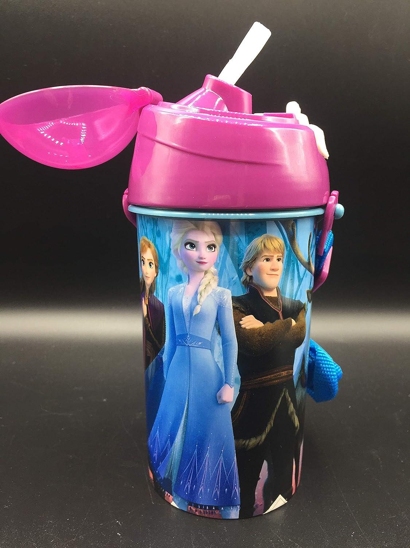 ML Botella de Agua Infantil, cantimplora Botella de Agua de plastico con Pajita para niños y niñas, cantimplora a Prueba de Fugas para Levar a la Escuela y Deportes el Termo 500ML