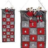 Adventskalender zum befüllen Kinder groß Weihnachtskalender xxl aus Stoff Weihnachtsmann zum selber-füllen Nikolaus