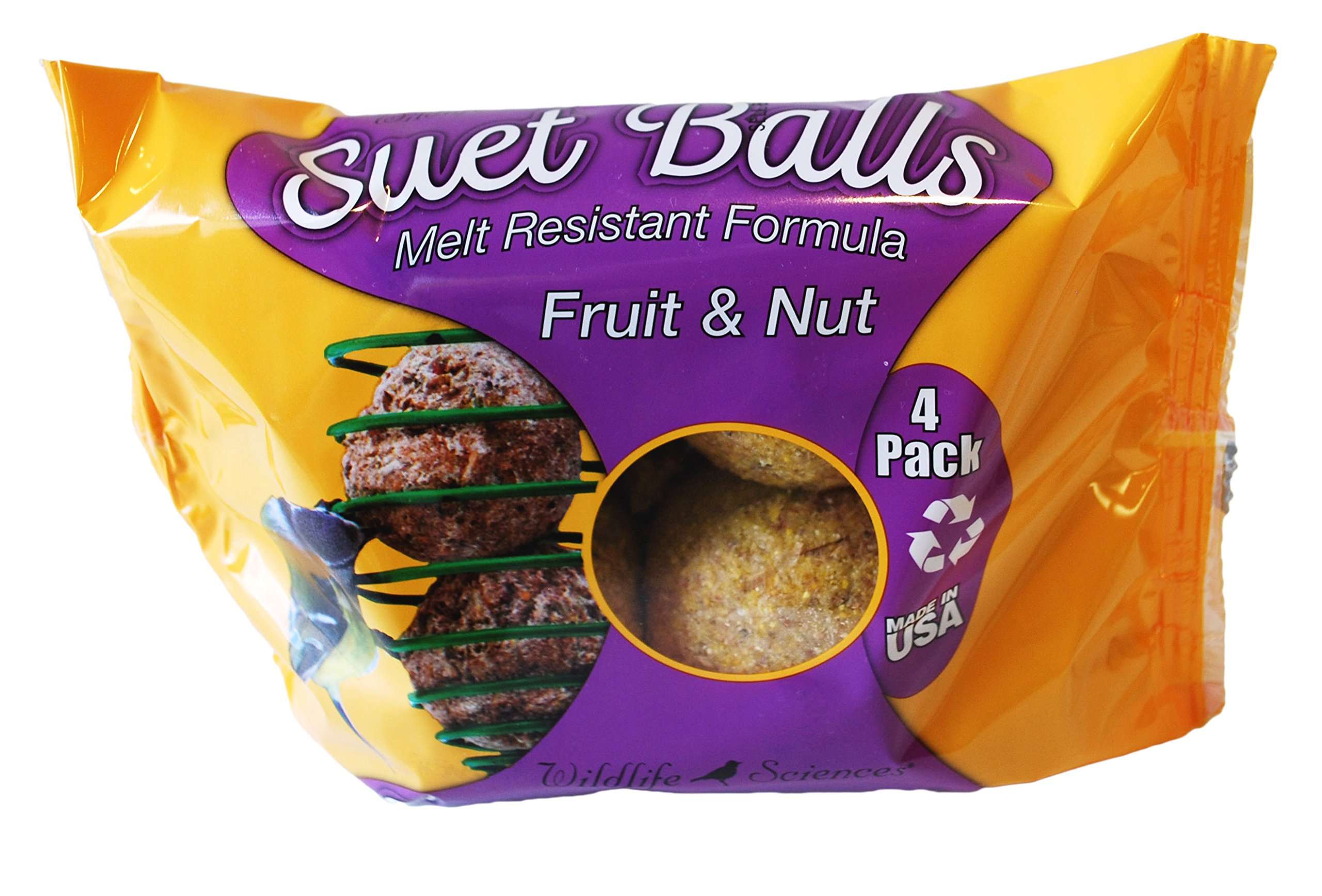 Fruit & Nut Suet Balls 4 Pack, Case of 6 by Wildlife Sciences