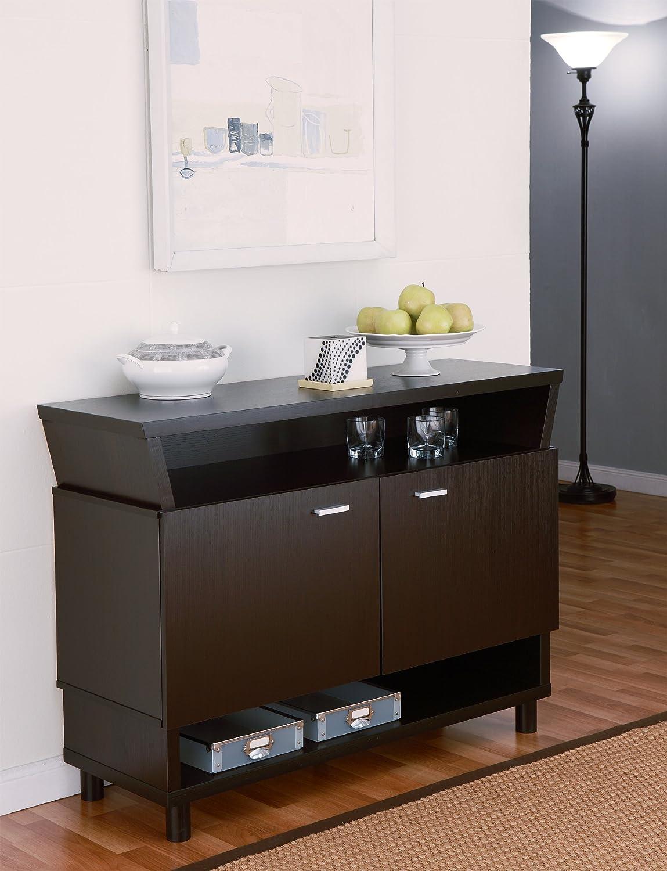 Furniture of America Crestview Contemporary Buffet Sideboard Cappuccino
