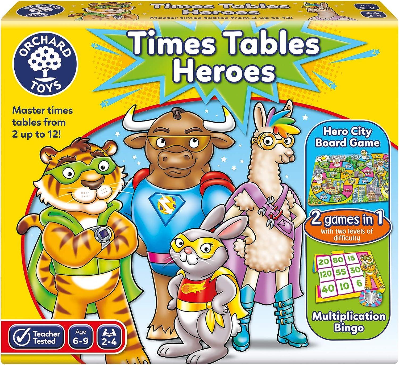 Orchard Toys Héroes de Tablas de Tiempos