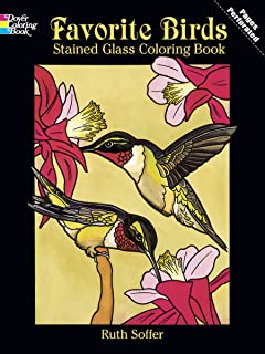 Favorite Birds Stained Glass Coloring Book Dover Nature
