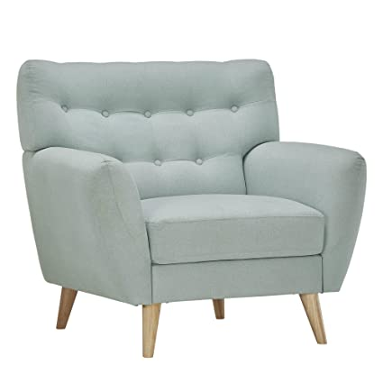 Fabulous Amazon Com Mid Century Modern Curved Tufted Upholstered Inzonedesignstudio Interior Chair Design Inzonedesignstudiocom