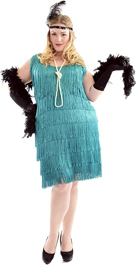 Roaring 20s Costumes- Flapper Costumes, Gangster Costumes Charades Womens Fashion Flapper $54.83 AT vintagedancer.com