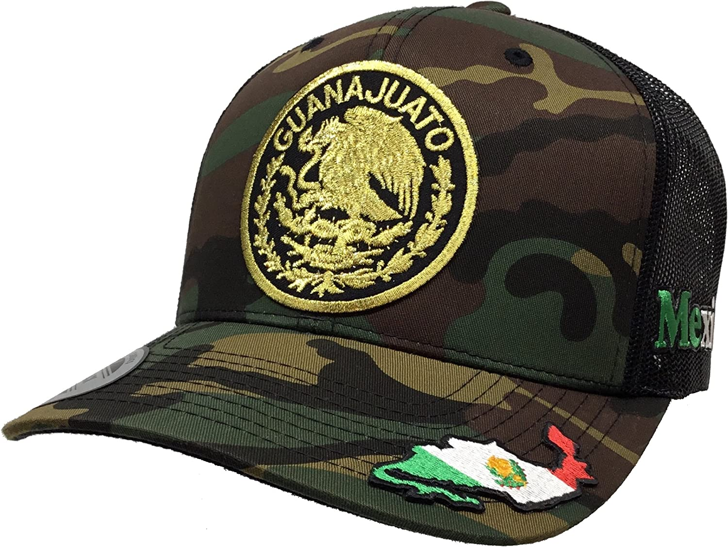 GUANAJUATO LOGO FEDERAL MEXICO HAT MESH TRUCKER BLACK SNAP BACK