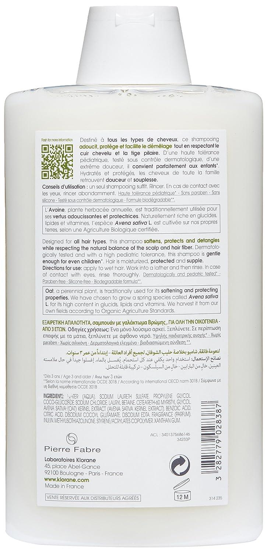 KLORANE - KLORANE Champú a la Leche de Avena Uso Frecuente 400 ml: Amazon.es: Salud y cuidado personal