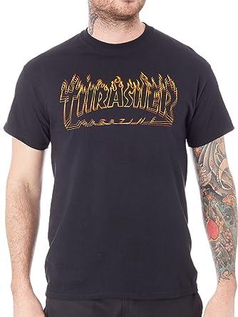 a4553eb7a5ef Thrasher Magazine Richter T-Shirt Black  Amazon.co.uk  Clothing
