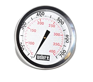 "Weber Replacement Thermometer 67088, Center Mount, 2-3/8"" Diameter"