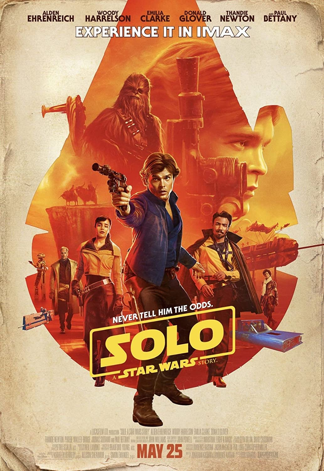 Solo A Star Wars Story 13 X19 Original Promo Movie Poster Imax Version At Amazon S Entertainment Collectibles Store