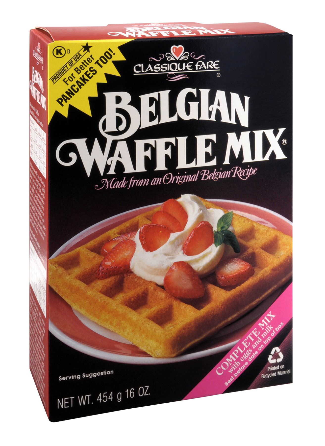Classique Fare Mix Waffle Belgian