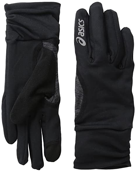 3410ce2f Amazon.com : ASICS Womens Thermopolis Lt Ruched Glove, black, Large ...