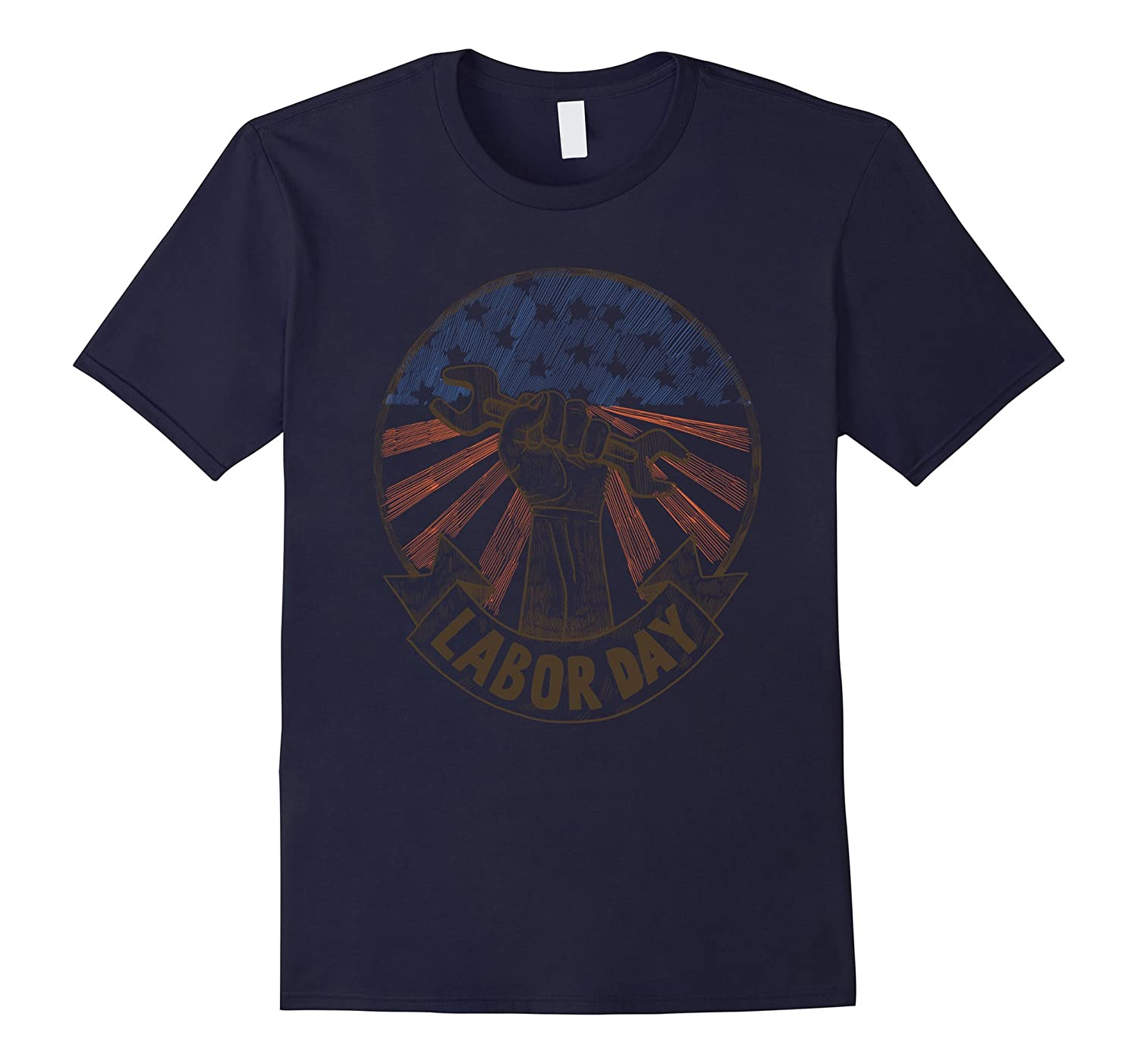 Happy Labor Day T-Shirt, American Flag Holiday Shirt Gift-BN