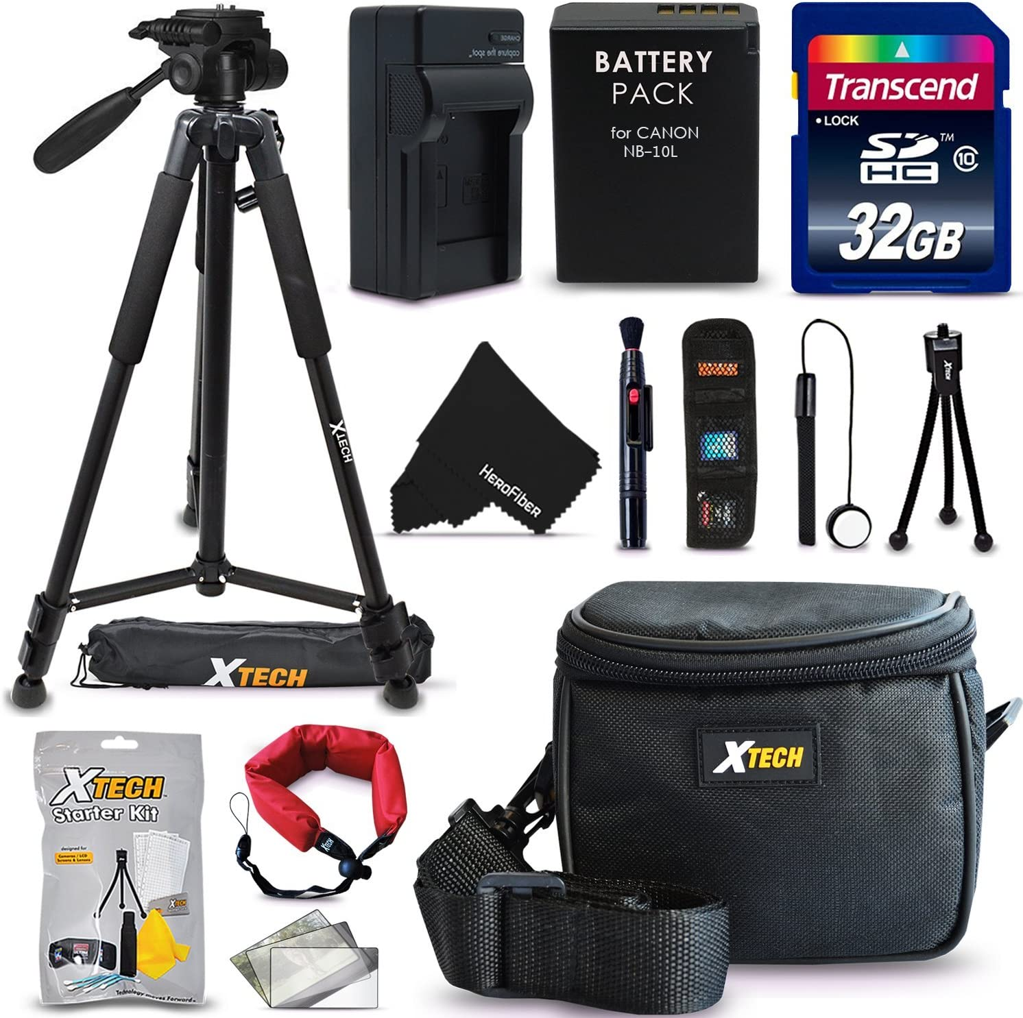 NB-10L // NB10LBattery w//Charger Tripod More SX40 HS G16 Ultimate 20 Piece Accessory Kit for Canon Powershot SX60 HS SX50 HS G1X G15 Digital Cameras Includes: 32GB SD Memory Card