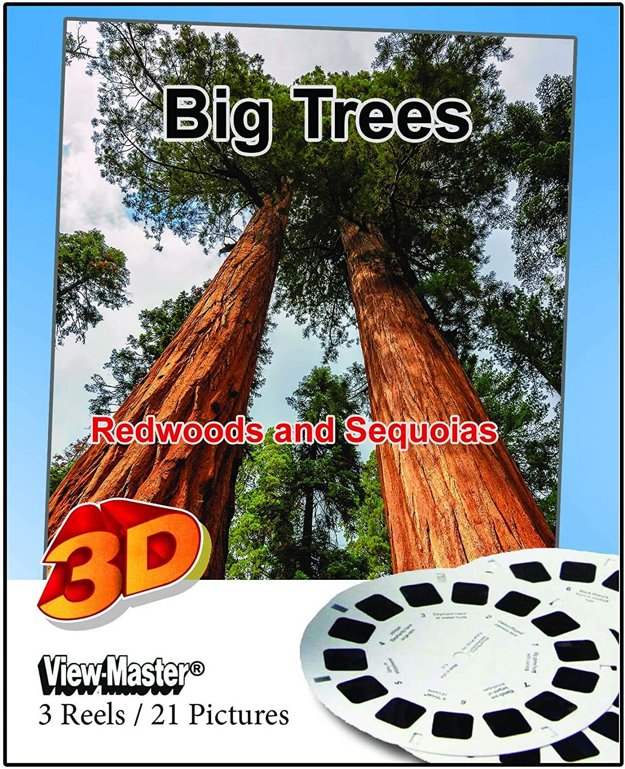 21 3D Images Sequoia and Kings Canyon Redwood Highway Classic ViewMaster 3Reel Set Big Trees