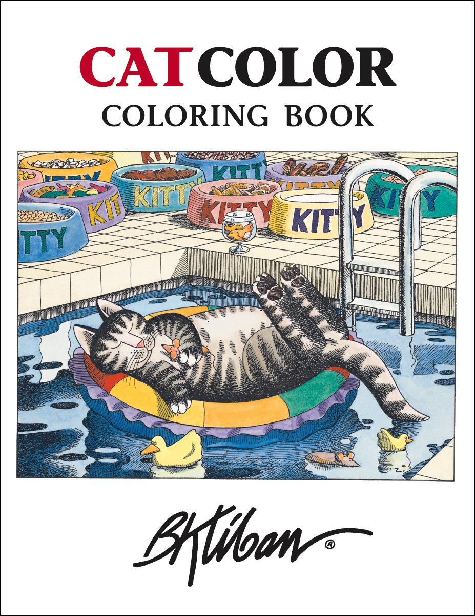 Kliban Catcolor Coloring Book Pomegranate 9780764950315 Amazon