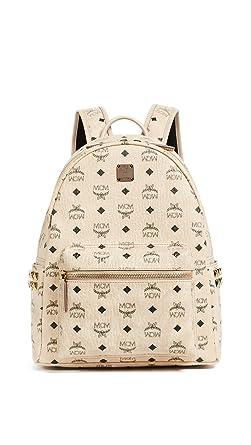 c6c841103db6 MCM Unisex Stark Side-Stud Small Medium Backpack Beige One Size