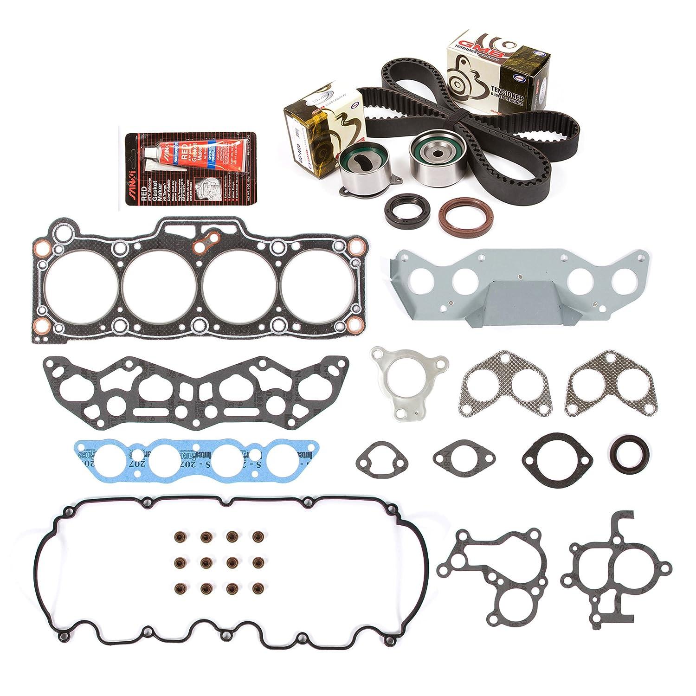 Amazon.com: Evergreen HSTBK6005 Head Gasket Set Timing Belt Kit 88-92 Ford Probe Mazda MX6 626 Turbo 2.2 F2-T: Automotive