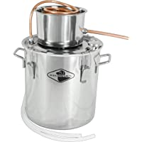Big Horn 19 Litre Single Keg Distillation Kit - Stainless Steel Distilling Equipment - Make Alcohol, Essential Oils & Distilled Water and More with This Home Distiller (19 Litre, Single Keg)