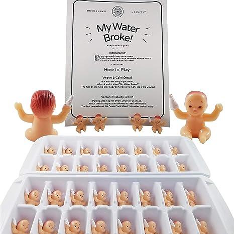 Amazon.com: My Water Broke Juego de ducha para bebé, diseño ...