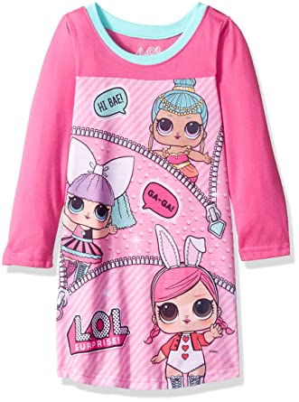 Amazon.com  AME Sleepwear Girls  Little L.O.L. Surprise 2-Piece Nightgown 8dfb204d0
