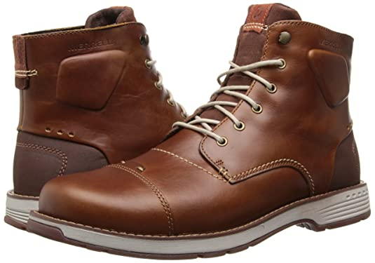 4903289fc41 Merrell Men s Realm Sky Saddle Brown Leather Boots 8 D(M) US  Amazon.co.uk   Shoes   Bags