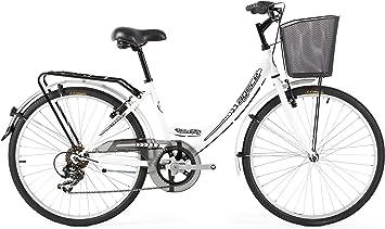 Agece Urban-26 Bicicleta de Paseo, Mujer, Blanco, S: Amazon.es ...