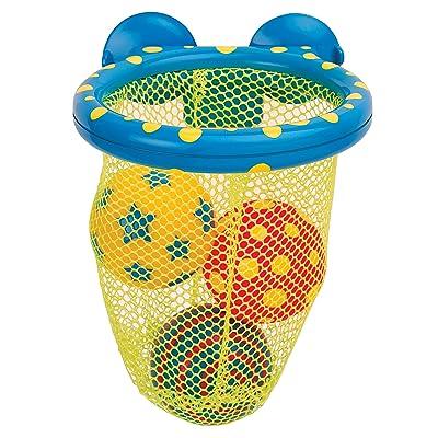 Alex 694 - Jouet de Bain - Panier de Basket avec Balles