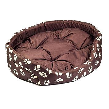 Boutique Zoo – Elegante Perros Cama marrón con Costura/Cama para Perros para pequeñas/