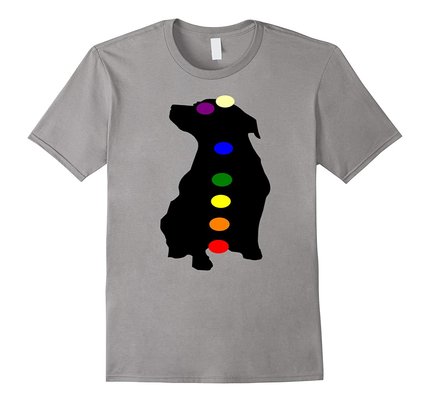 7 Chakras Dog T-Shirt Hindu Buddhist Buddhism Yoga T-Shirt-Art