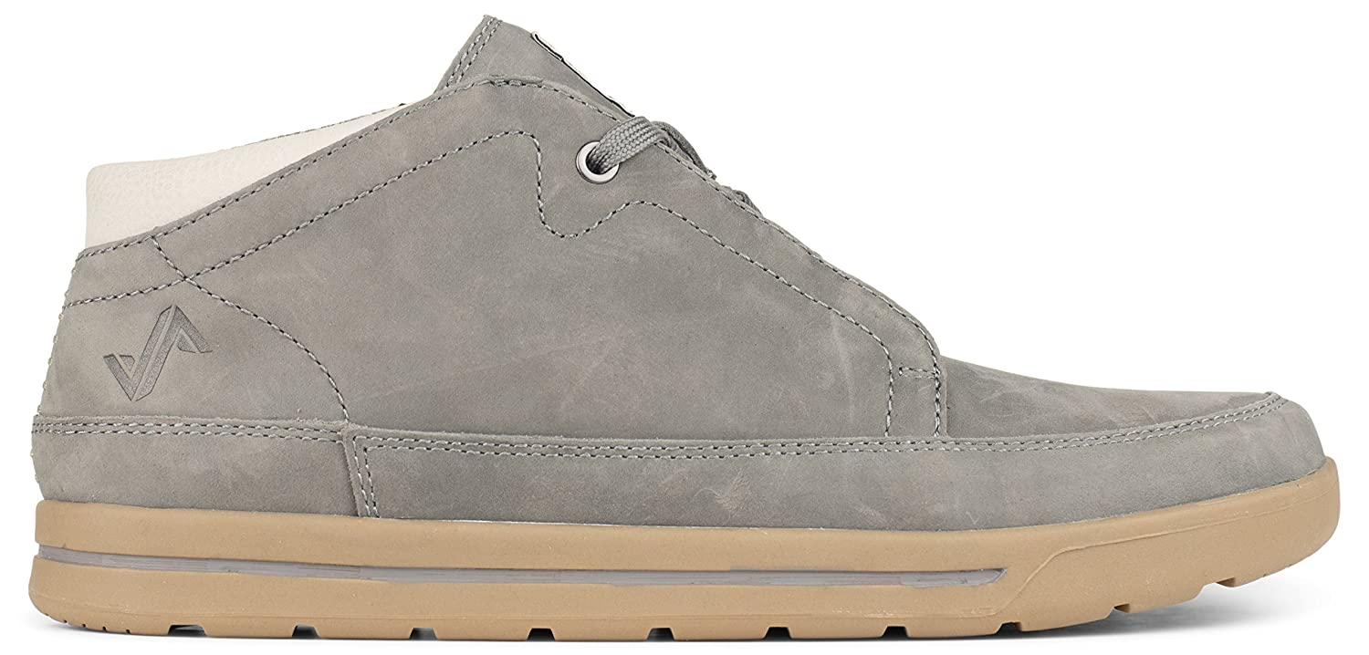 Grey Forsake Phil Chukka - Men's Casual Leather Mid-Top