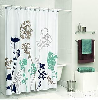 Amazon.com: Carnation Home Fashions Damask Fabric Shower Curtain ...