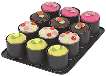 Zenker 12er Mini Tortchen Backblech Cupcake Backform In Schwarz Mit