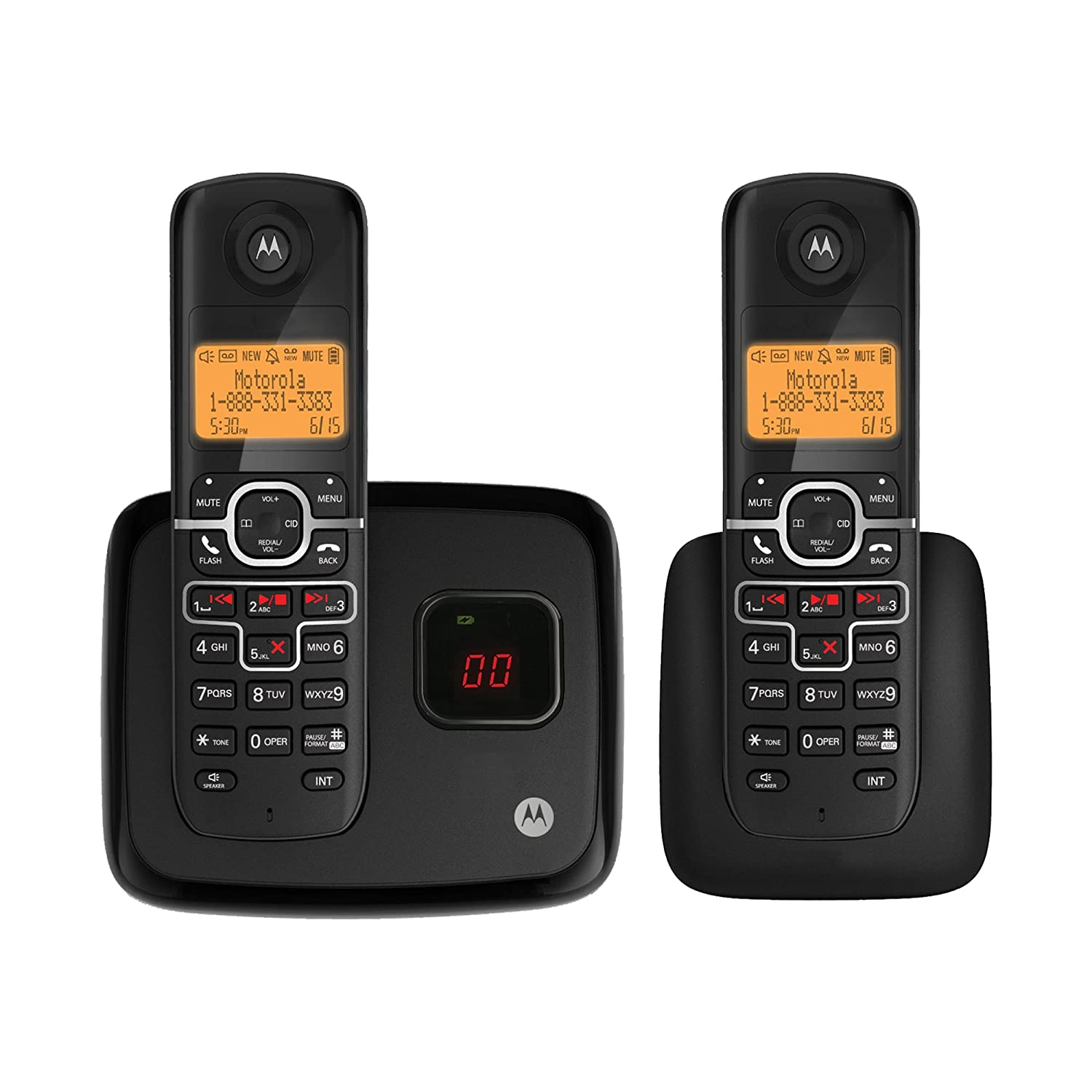 Motorola DECT 6.0 Enhanced Cordless Phone with 2 Handsets ...