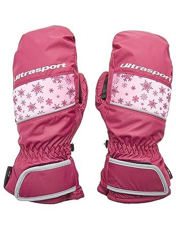 Ultrasport Basic Ski Fäustlinge Starflake, Fausthandschuhe für Kinder mit guter Bewegungsfreiheit, wasserbeständig und winddi
