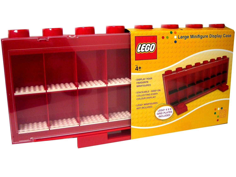 Lego Sablon 106-004-2 Cassetta espositiva per 16 personaggi, colore  Rosso