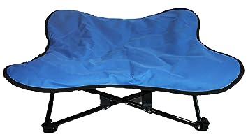 Cama acolchada para perro, elevada, portátil, plegable, ideal para acampada y entrenamiento
