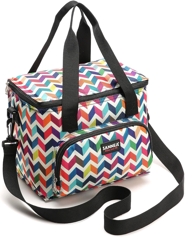Yvonnelee 10L Nevera port/átil Bolsa para el Almuerzo Lunch Bag para Guardar Comida Multifuncional Kleine Picnic Bolsa de Playa Completo Apertura Bolsa T/érmica,
