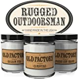 Scented Candles for Men - Rugged Outdoorsman - Set of 3: Balsam Fir, Campfire, Fresh Cut Grass - 3 x 4-Ounce Soy Candles - Each Votive Candle is Handmade in the USA with only the Best Fragrance Oils