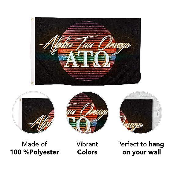 Amazon.com: Alpha Tau Omega - Bandera de la Fraternidad de ...