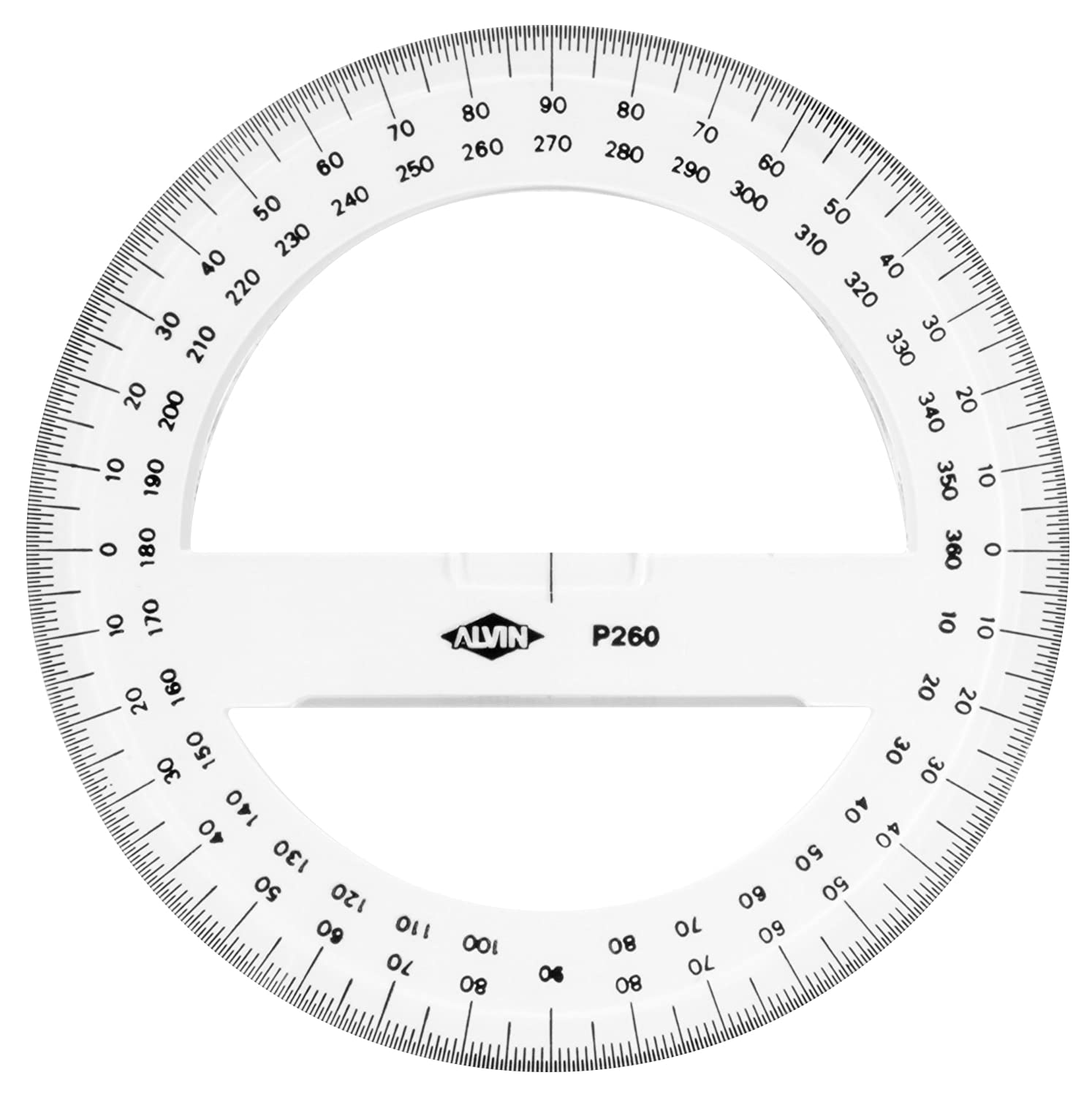 worksheet Protractor Print Out amazon com alvin p260 6 inch circular protractor construction protractors office products