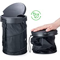 Universal Traveling Portable Car Trash Bin - Collapsible Trash Can With Cover For TRUCK VAN RV SUV Boats And Baby Stroll