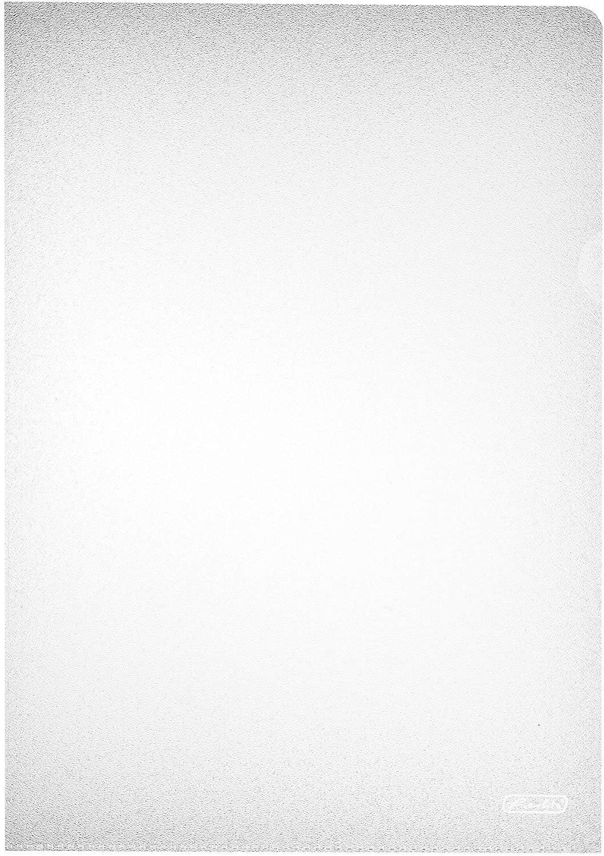 Herlitz Sichthülle - Paquete de 100 portafolio de plástico A4