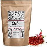 Chili Chilischoten geschrotet 250g | getrocknete Chillis mit Kernen grob gemahlen inkl gratis Ratgeber | Chiliflocken mild für Chilimühle - Capsaicin